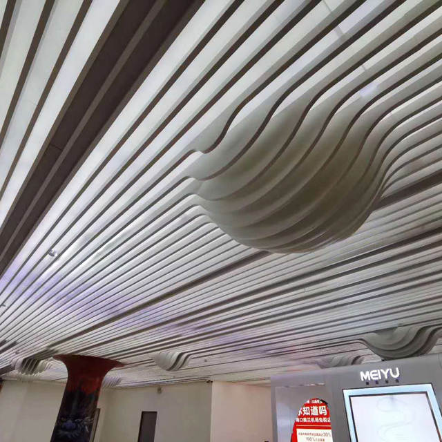2020 Fashionable Aluminum Baffle Metal Ceiling for Commercial Buildings
