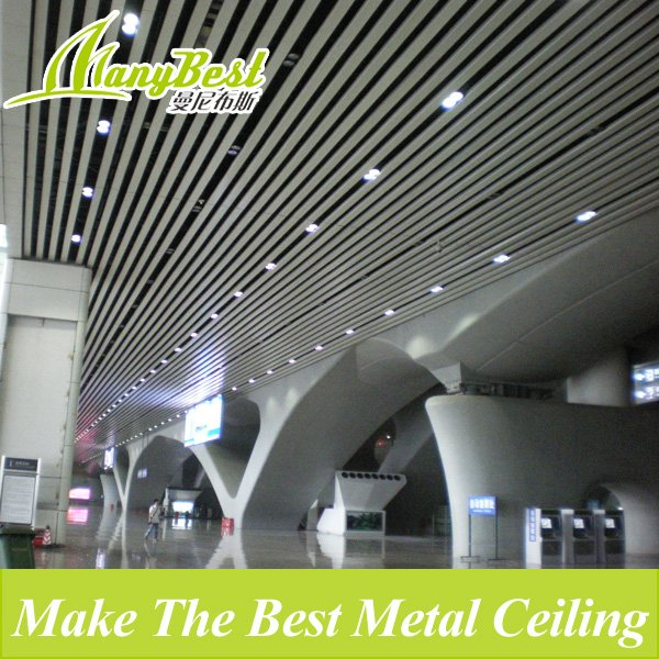 2018 Fashionable Aluminum Baffle Metal Ceiling for Commercial Buildings