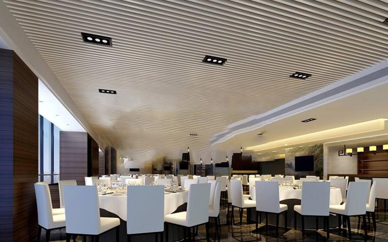 Fashion Aluminum Restaurant Strip Suspended False Ceiling