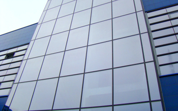 Aluminum curtain wall panel