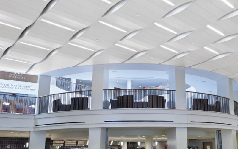 The difference between single curved aluminum panel and hyperbolic aluminum panel
