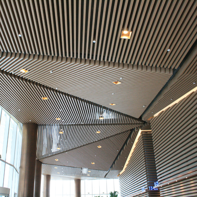 2020 Fashionable Aluminum Baffle Metal Ceiling Designs for Shopping Malls