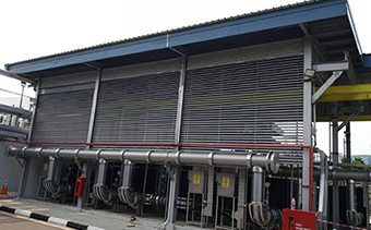 Aluminum Sun Louver for New Industrial Building Project In Singapore