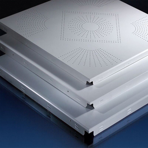 Clip in Fireproof Ceiling Tiles Perforated Ceiling Panel for Office