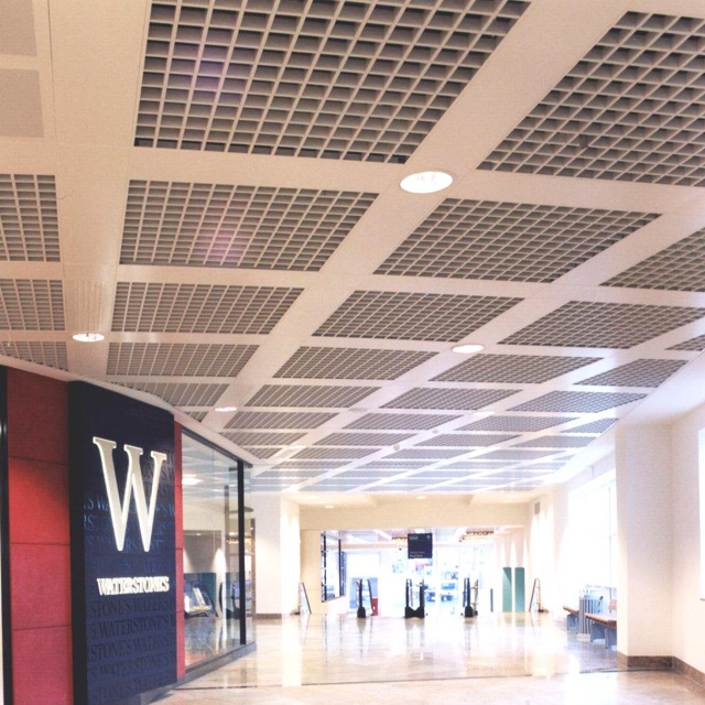 Aluminum Coffered Drop Down Grid Ceiling Tiles Covers